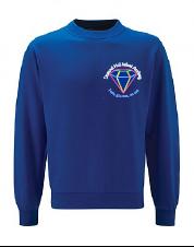 Royal Sweatshirt - Embroidered Diamond Hall Infant Academy Logo