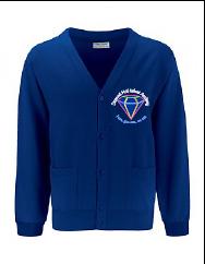 Royal Cardigan - Embroidered Diamond Hall Infant Academy Logo