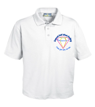 White Polo - Embroidered with Diamond Hall Infant Academy Logo