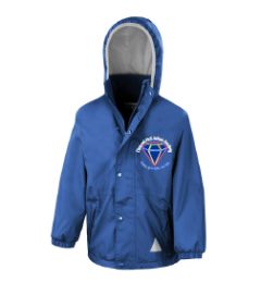 Royal Stormproof Coat - Embroidered with Diamond Hall Infant Academy Logo
