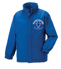 Royal Reversible School Jacket - Embroidered with Diamond Hall Infant Academy Logo
