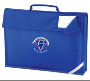 Royal Book Bag - Embroidered with Diamond Hall Infant Academy Logo