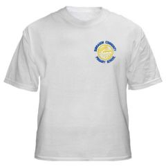 White PE T-Shirt - Embroidered with Burradon Community Primary School logo