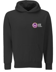 Black PE Hoodie - Embroidered with Bexhill Academy Logo