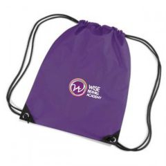 Purple PE Bag - Embroidered with Bexhill Academy Logo