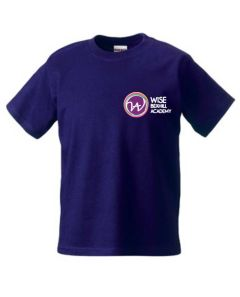 Purple PE T-shirt - Embroidered with Bexhill Academy Logo
