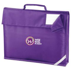 Purple Book Bag - Embroidered with Bex Hill Academy Logo