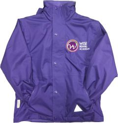 Purple Result Stormproof Coat - Embroidered with Bexhill Academy Logo