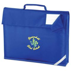 Royal Bookbag - Embroidered with Broomhill First School logo