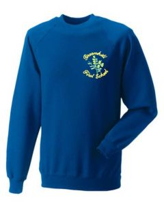 Royal Blue Sweatshirt - Embroidered with Broomhill First School logo
