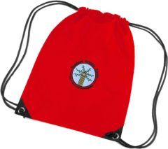 Red PE Bag - Embroidered with Bowburn Primary School Logo