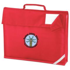Red Book Bag - Embroidered with Bowburn Primary School Logo
