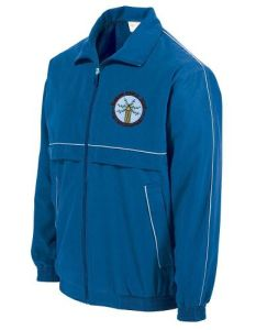 Royal Reflector Tracksuit Top - Embroidered with Bowburn Primary School Logo & Printed on the Back