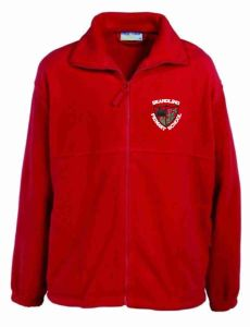 Red Polar Fleece - Embroidered With Brandling Primary School Logo