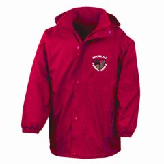 Red Stormproof Coat - Embroidered With Brandling Primary School Logo