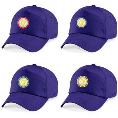 Purple Cap - Embroidered with Caedmon Primary School (Middlesbrough) logo