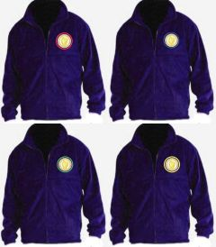 Purple Fleece - Embroidered with Caedmon Primary School (Middlesbrough) logo