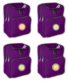 Purple Junior Backpack - Embroidered with Caedmon Primary School (Middlesbrough) logo