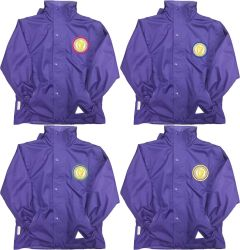 Purple Result Stormproof Coat - Embroidered with Caedmon Primary School (Middlesbrough) logo