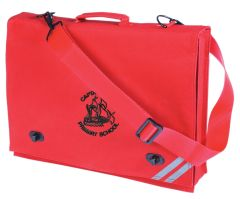 Red Document Case - Embroidered with Captain Cook Primary School Logo