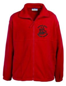 Red Fleece - Embroidered with Captain Cook School logo