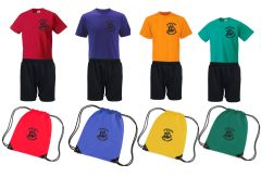 FULL PE Kit (T-Shirt, Shorts & PE Bag) - Embroidered with Captain Cook Primary School Logo