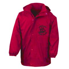 Red Stormproof Coat - Embroidered with Captain Cook Primary School Logo