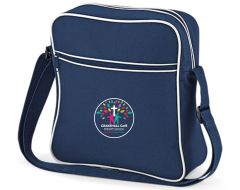 Navy Retro Flight Bag *Key Stage 2 Only*- Embroidered with Crakehall CofE School logo
