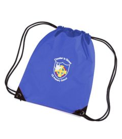 Royal PE Bag - Embroidered with Chester Le Street Primary School Logo