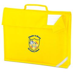 Yellow Book Bag - Embroidered with Chester Le Street Primary School Logo