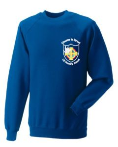 Royal Sweatshirt - Embroidered with Chester Le Street Primary School Logo