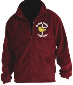 Burgundy Fleece - Embroidered with Cleves Cross Primary School logo
