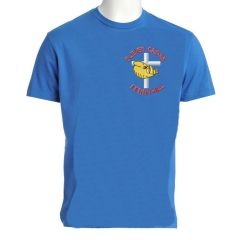Sky PE T-Shirt - Embroidered with Cleves Cross Primary School logo