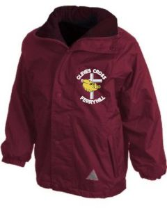 Burgundy Result Stormproof Coat - Embroidered with Cleves Cross Primary School logo