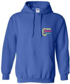 Royal PE Hoodie - Embroidered with Coxhoe Primary School Logo