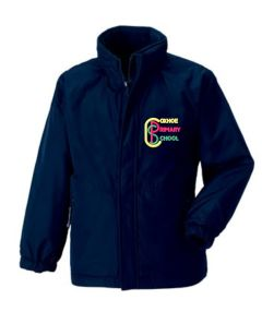 Navy Reversible School Jacket - Embroidered with Coxhoe Primary School Logo
