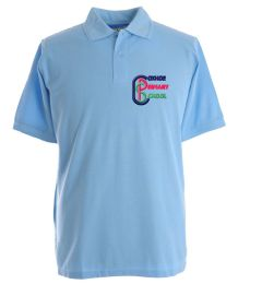 Sky Blue Classic Polo - Embroidered with Coxhoe Primary School Logo