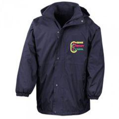 Navy Stormproof Coat - Embroidered with Coxhoe Primary School Logo