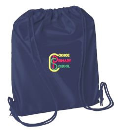 Navy PE Bag - Embroidered with Coxhoe Primary School Logo
