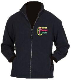 Navy Fleece - Embroidered with Coxhoe Primary School Logo