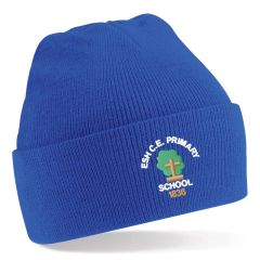 Royal Knitted Hat - Embroidered with Esh C.E. Primary School Logo