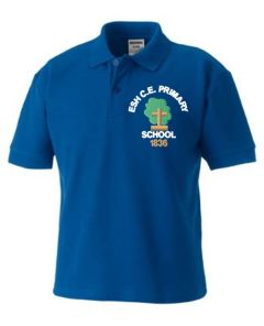 Royal Polo - Embroidered with Esh C.E. Primary School Logo