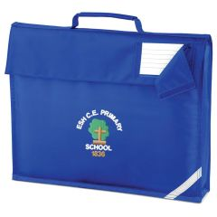 Royal Book Bag - Embroidered with Esh C.E. Primary School Logo