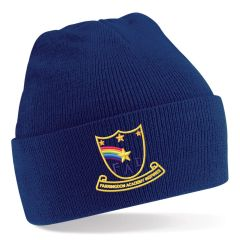 Navy Knitted Hat - Embroidered with Farringdon Academy Logo