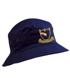 Navy Cotton Beannie Hat - Embroidered with Farringdon Academy Logo