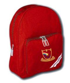 Red Infant Back Pack - Embroidered with Farringdon Academy Logo