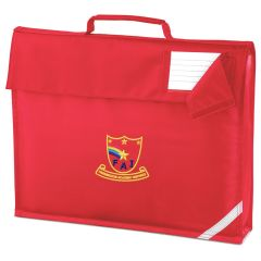 Red Book Bag - Embroidered with Farringdon Academy Logo