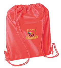 Red PE Bag - Embroidered with Farringdon Academy Logo