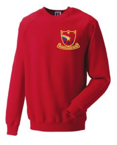 Red Sweatshirt - Embroidered with Farringdon Academy Logo