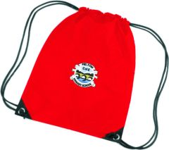 Red PE Bag - Embroidered with Felton CofE Primary School logo